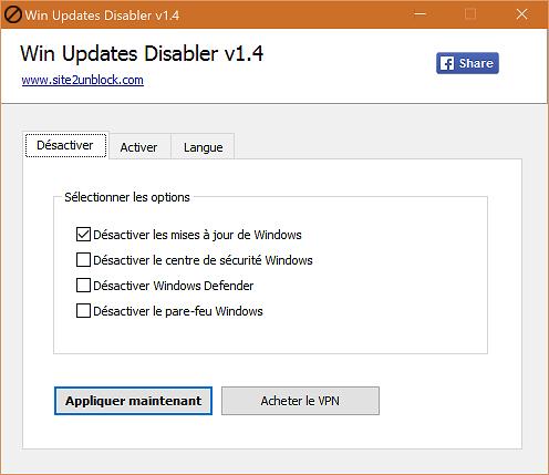 Win Updates Disabler : Un outil pour bloquer les mises à jour Windows