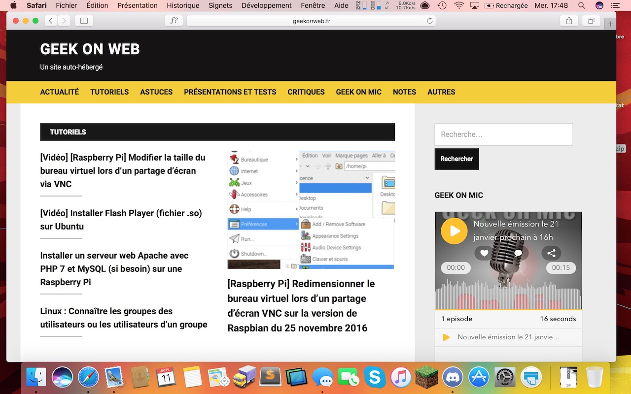 Et hop, on repasse sur WordPress !