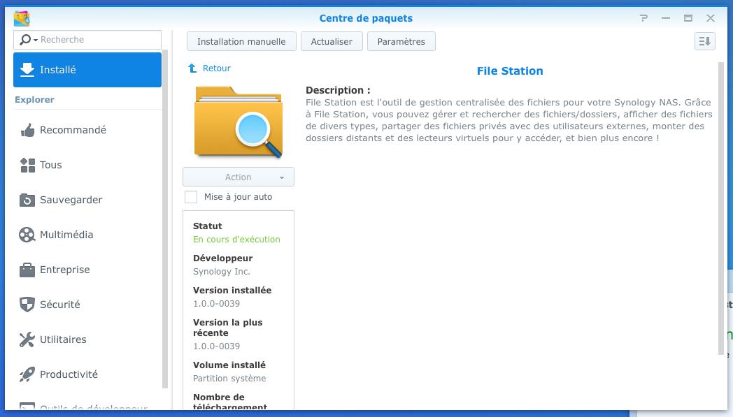 [DSM 6.1] Réparer File Station sur un NAS Synology s'il vous dit qu'aucun dossier partagé n'est disponible