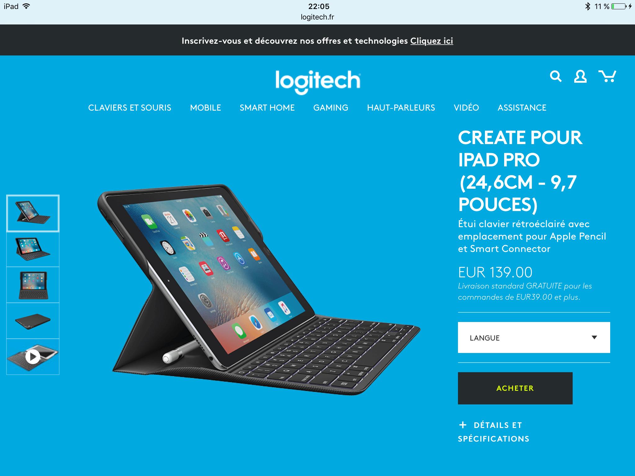 Quel clavier pour un iPad Pro ?