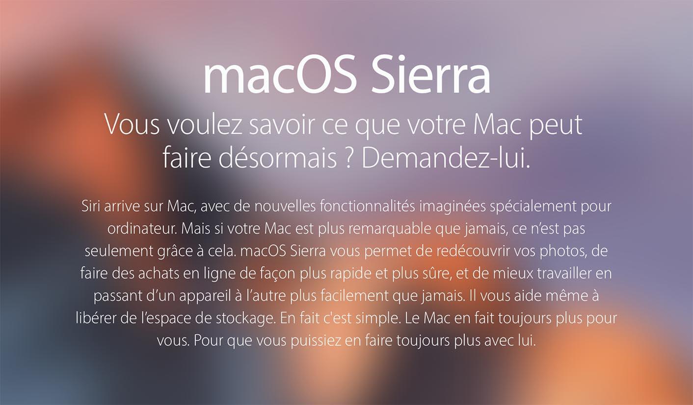La beta 5 de macOS 10.12.5 est disponible
