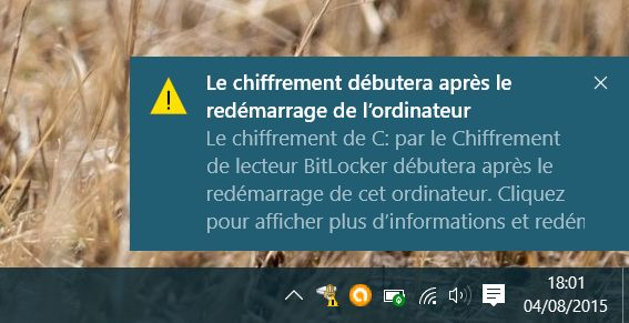 Désactiver Bitlocker sur Windows 10 Famille