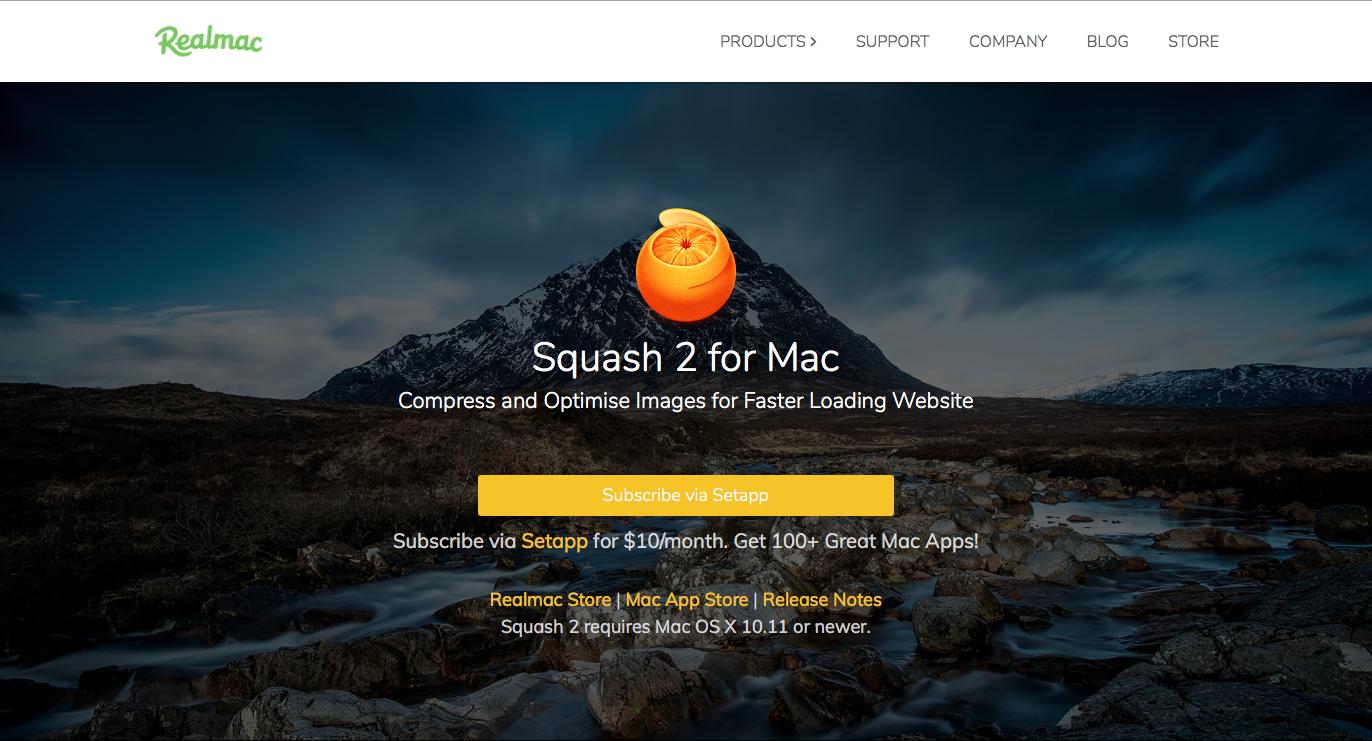 Test de l'application Squash sur Mac
