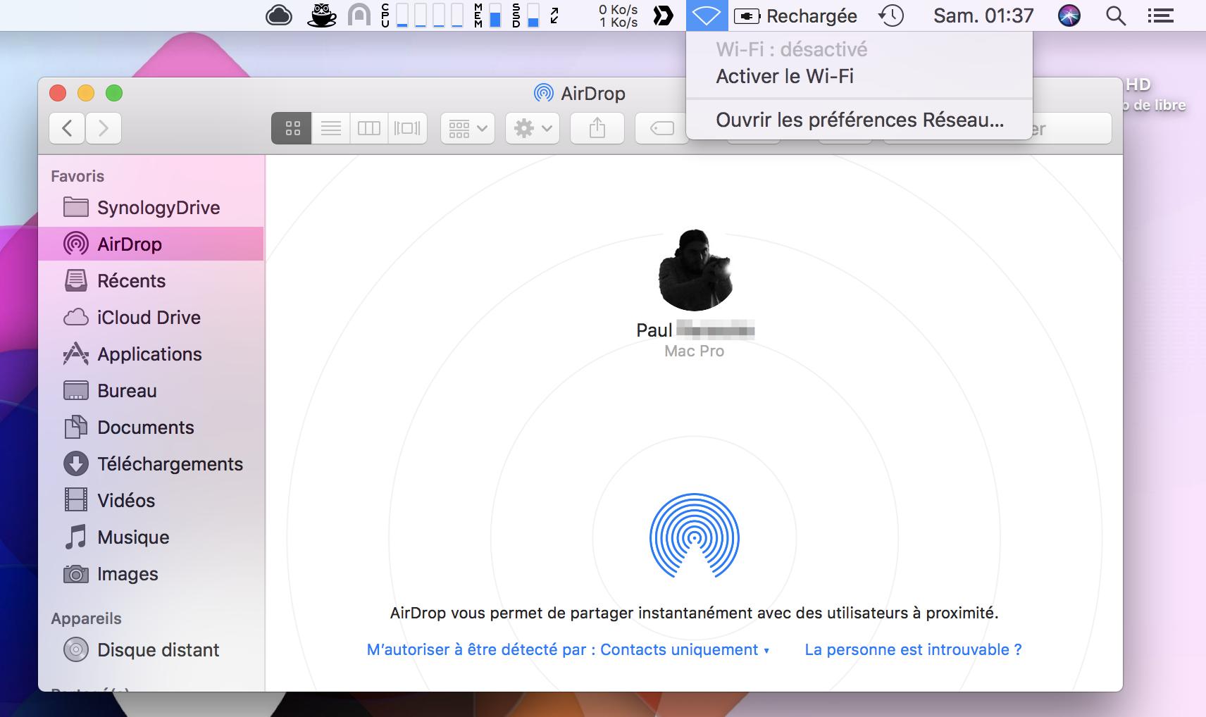 macOS : Utiliser AirDrop en Ethernet